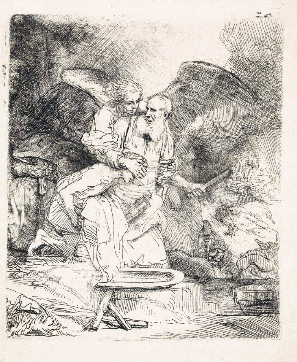 REMBRANDT VAN RIJN Abraham''s Sacrifice.