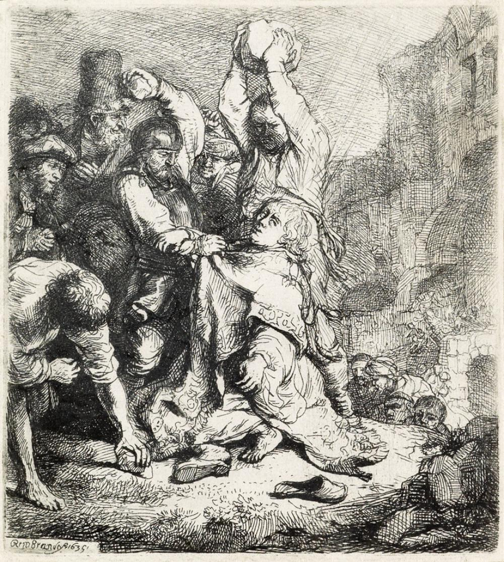 REMBRANDT VAN RIJN The Stoning of St. Stephen.