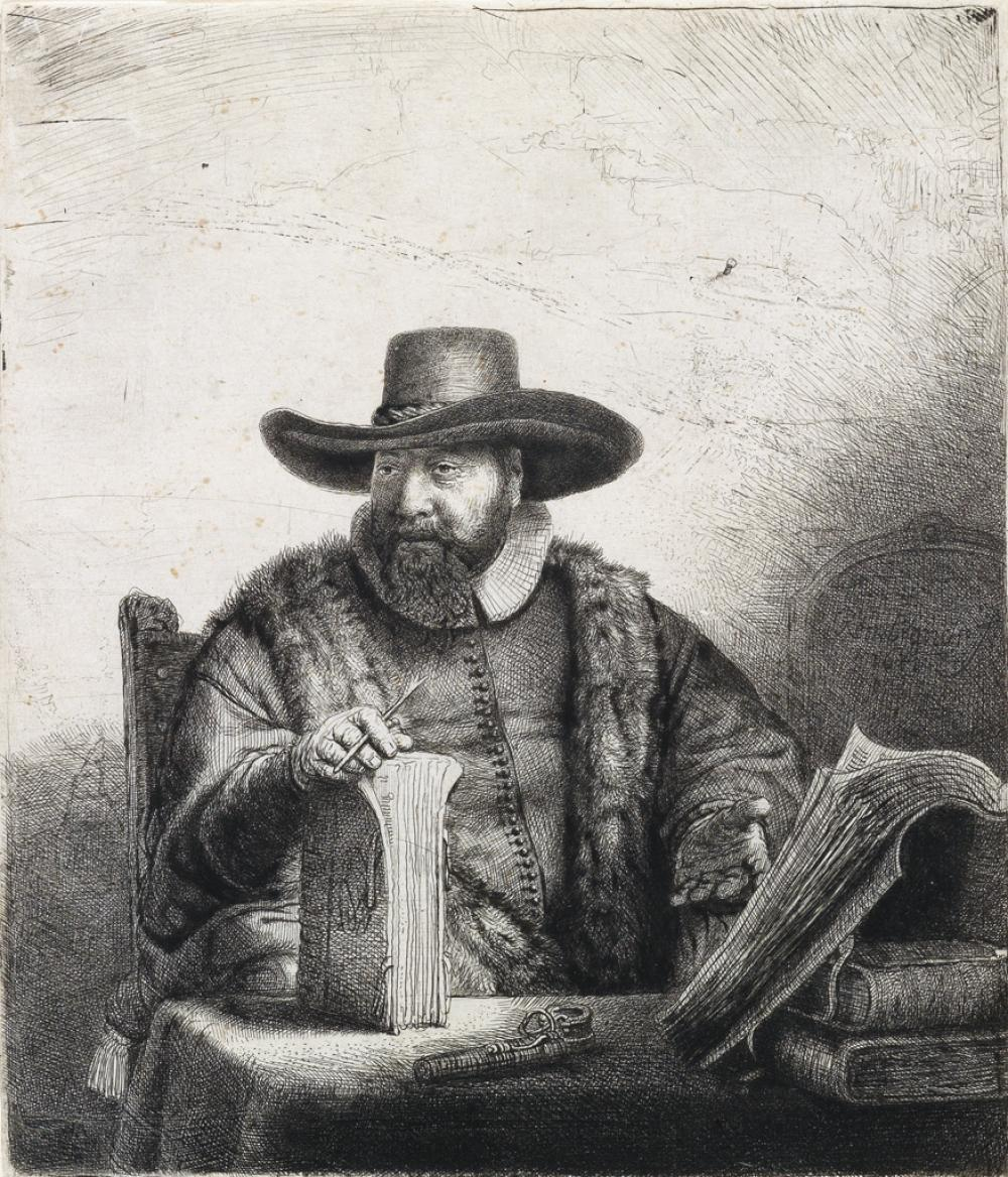 REMBRANDT VAN RIJN Cornelis Claesz Anslo, Preacher.