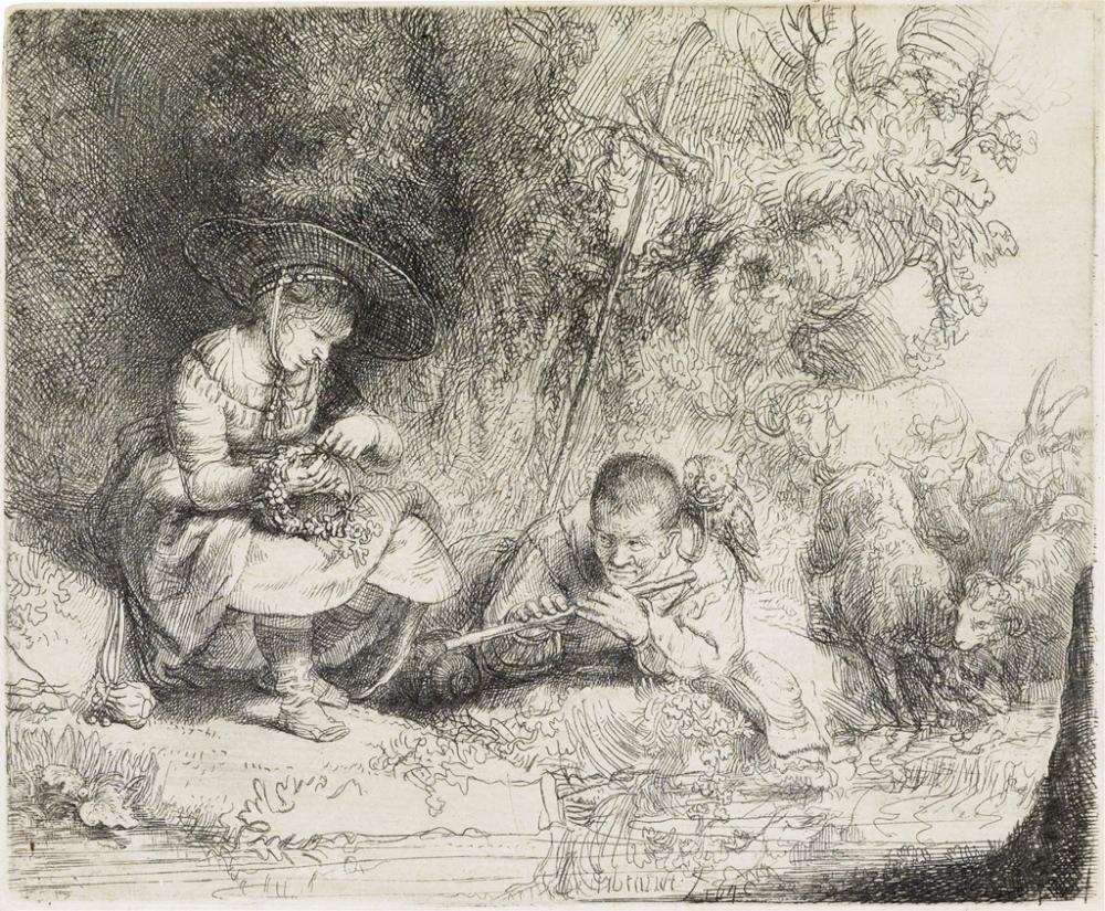 REMBRANDT VAN RIJN The Flute Player.