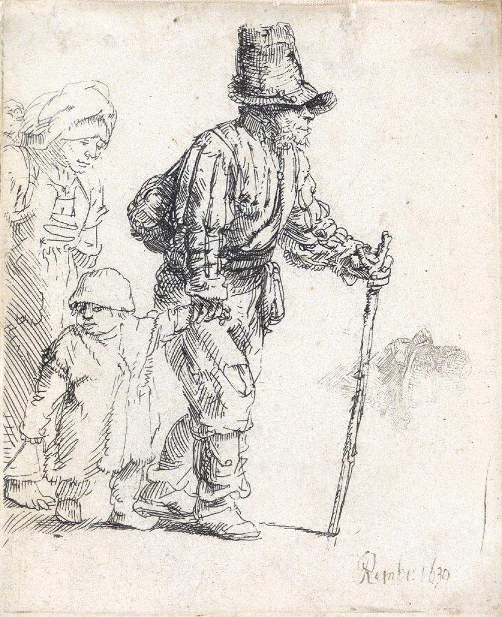 REMBRANDT VAN RIJN Peasant Family on the Tramp.
