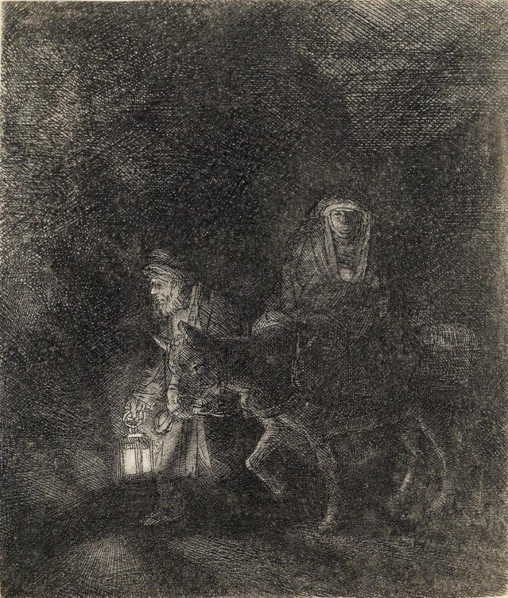 REMBRANDT VAN RIJN The Rest on the Flight into Egypt: A Night Piece.