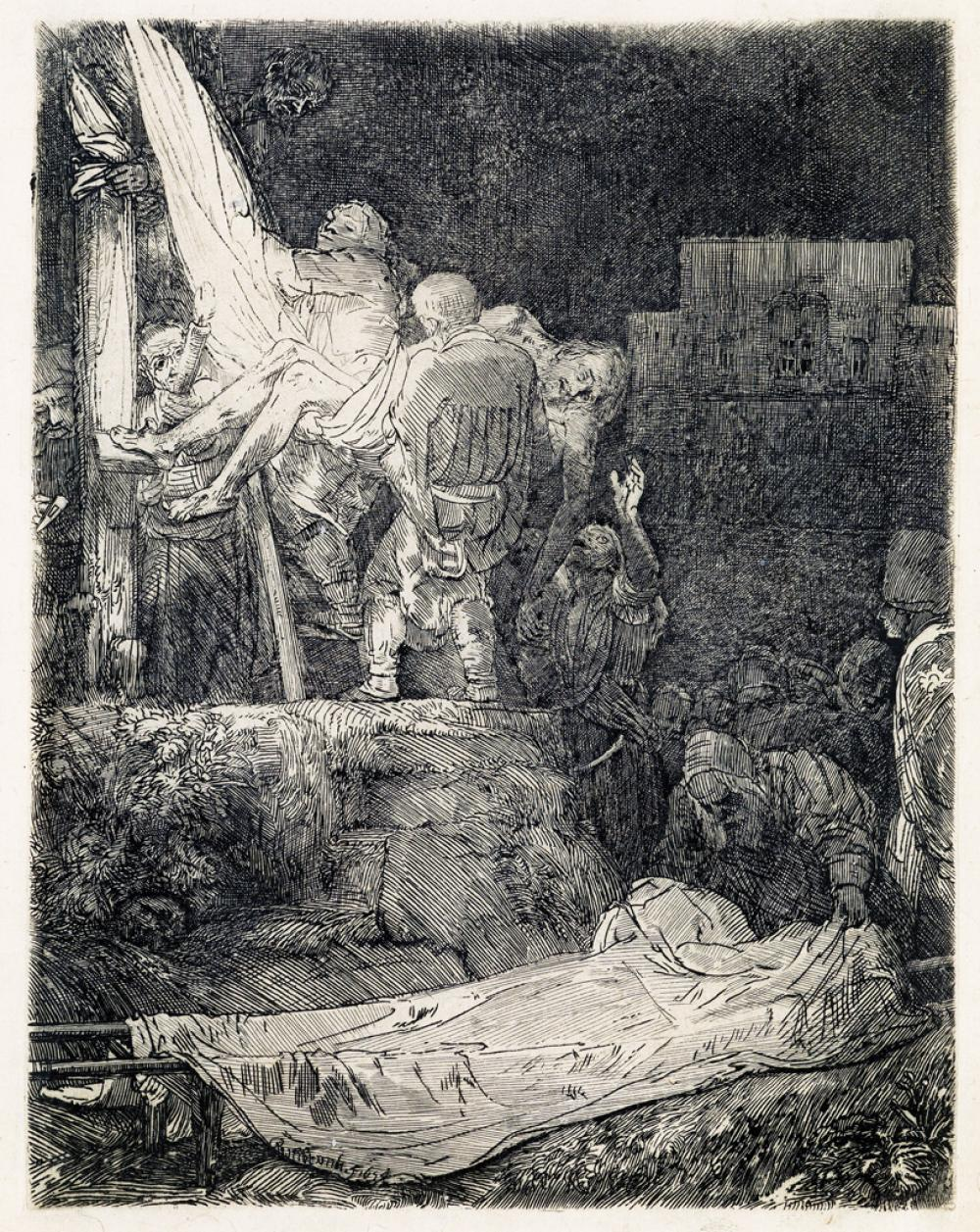 REMBRANDT VAN RIJN The Descent from the Cross by Torchlight.