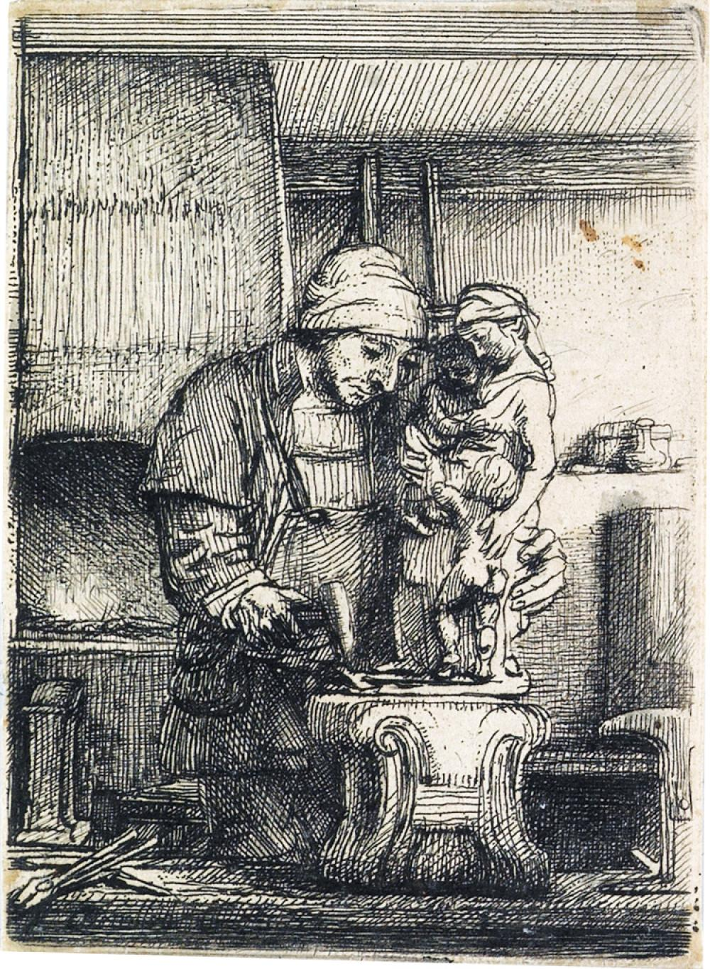 REMBRANDT VAN RIJN The Goldsmith.