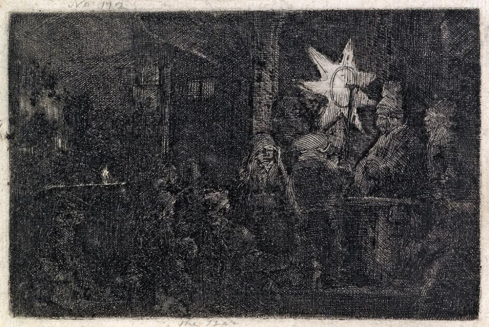 REMBRANDT VAN RIJN The Star of Kings: A Night Piece.