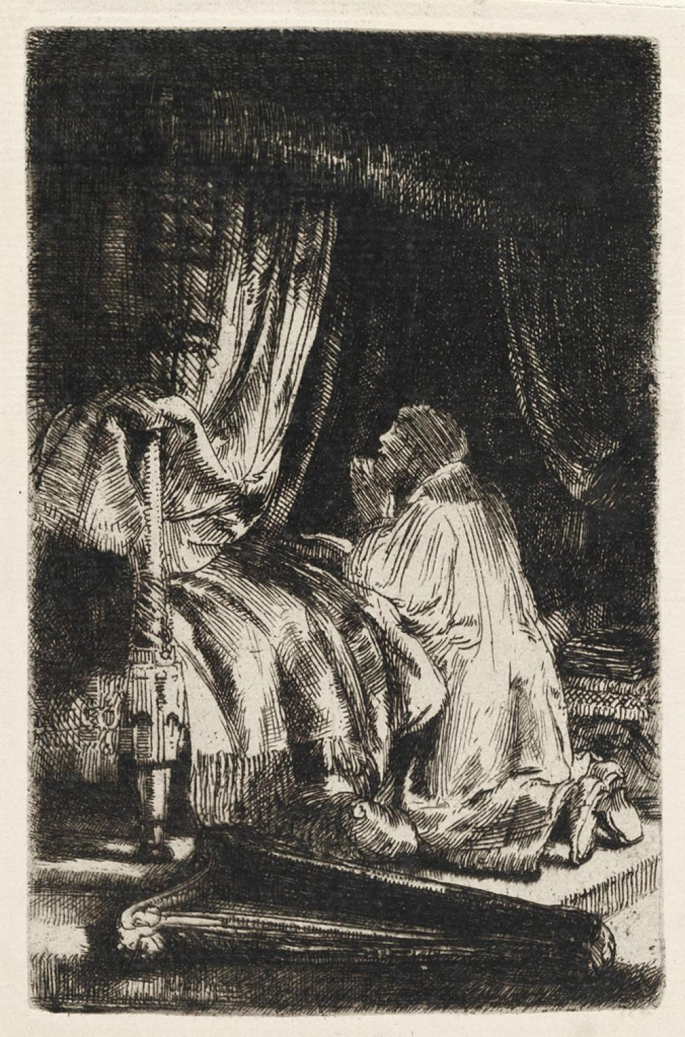 REMBRANDT VAN RIJN David at Prayer.