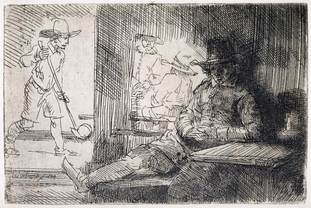 REMBRANDT VAN RIJN The Golf Player.