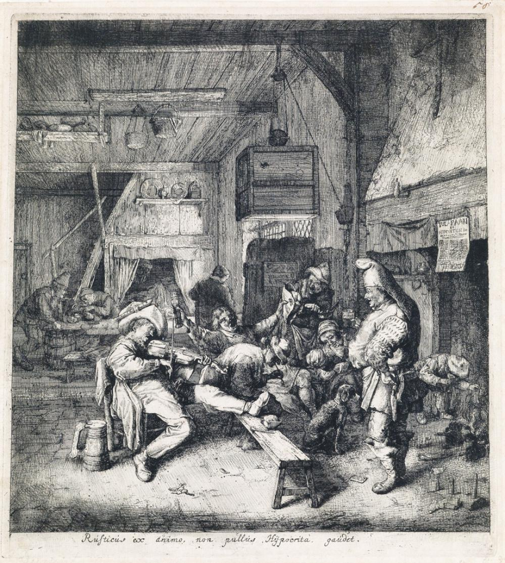 CORNELIS DUSART Violin Player Seated in the Inn.