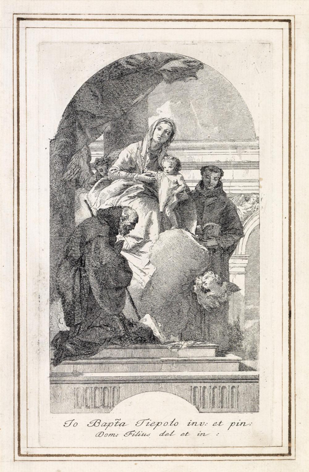 GIOVANNI D. TIEPOLO La Vergine col Bambino, S. Francesco da Paola e S. Antonio da Padova.