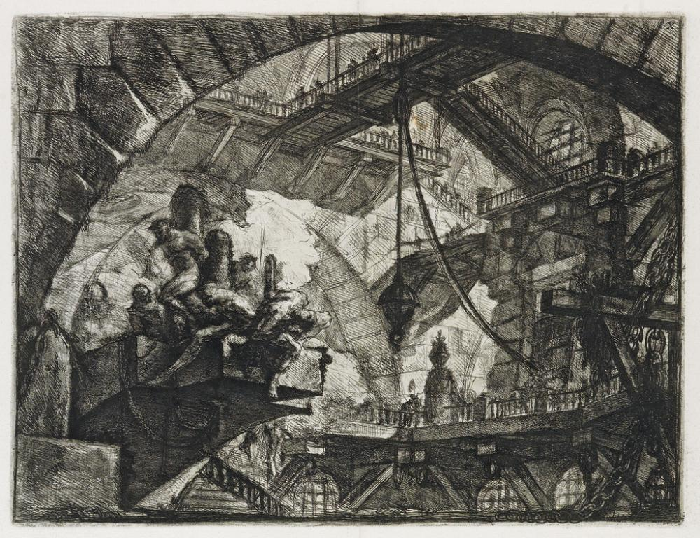 GIOVANNI B. PIRANESI Prisoners on a Projecting Platform.