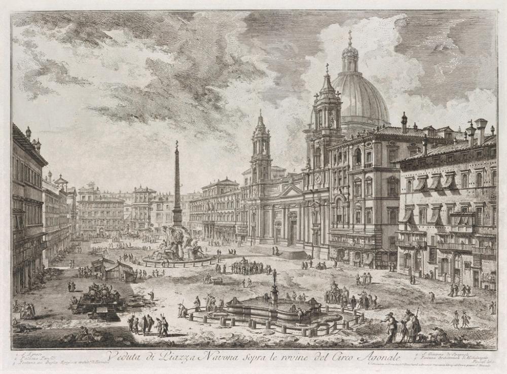 GIOVANNI B. PIRANESI Veduta di Piazza Navona sopra le Rovine del Circo Agonale.