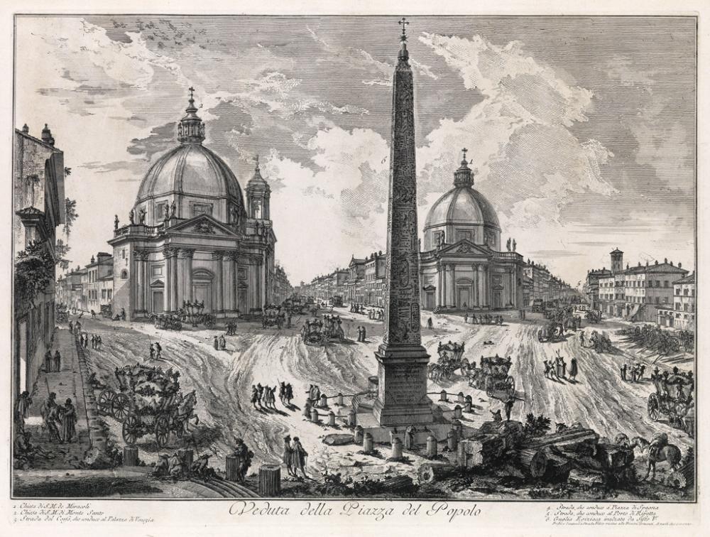 GIOVANNI B. PIRANESI Veduta della Piazza del Popolo.