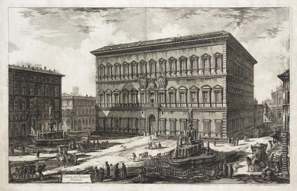 GIOVANNI B. PIRANESI Veduta del Palazzo Farnese.