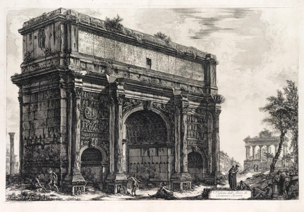 GIOVANNI B. PIRANESI Veduta dell'Arco di Settimio Severo.
