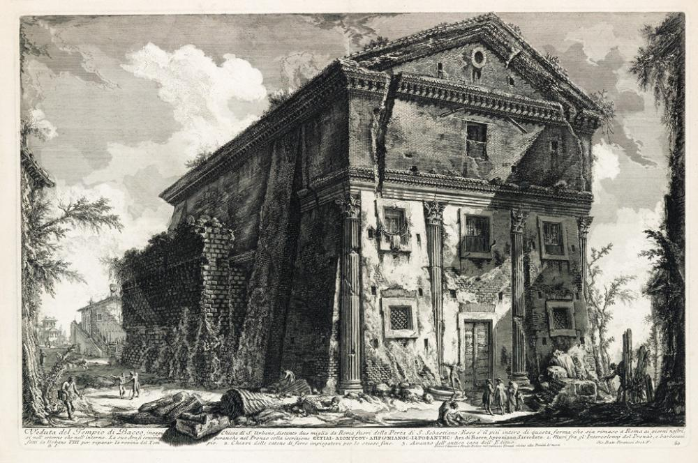 GIOVANNI B. PIRANESI Three etchings from the Vedute di Roma.