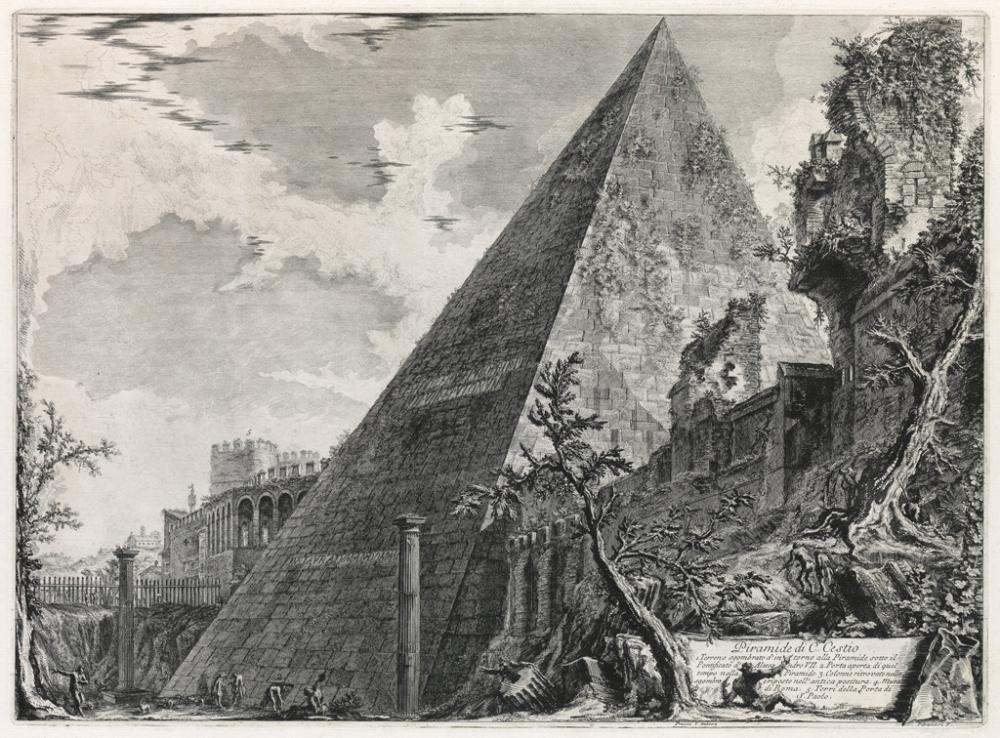GIOVANNI B. PIRANESI Piramide di C. Cestio.