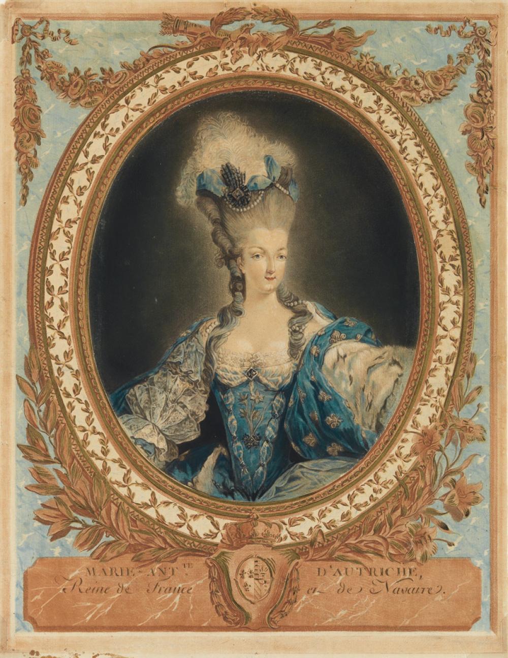 JEAN-FRANÇOIS JANINET Marie Antoinette d''Autriche, Reine de France et de Navarre.
