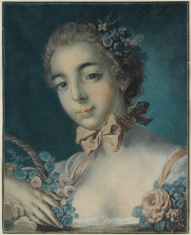 LOUIS-MARIN BONNET Tête de Flore * Tête de femme.