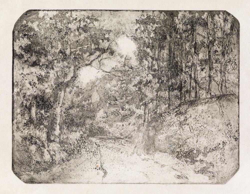 CAMILLE PISSARRO Chemin sous bois à Pontoise.
