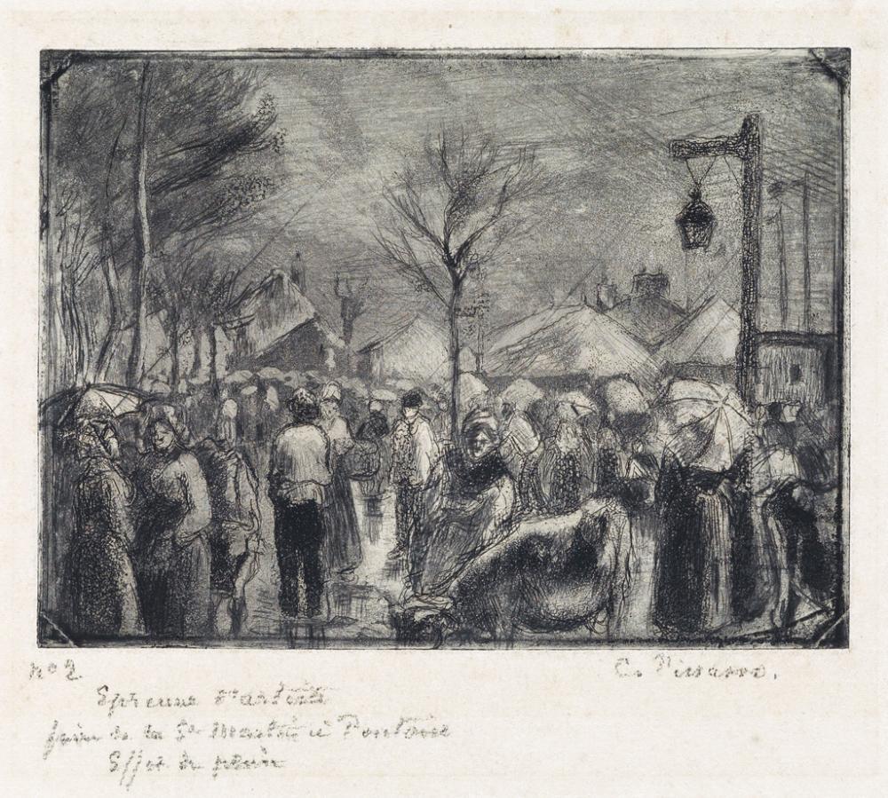 CAMILLE PISSARRO Foire de Saint-Martin à Pontoise.