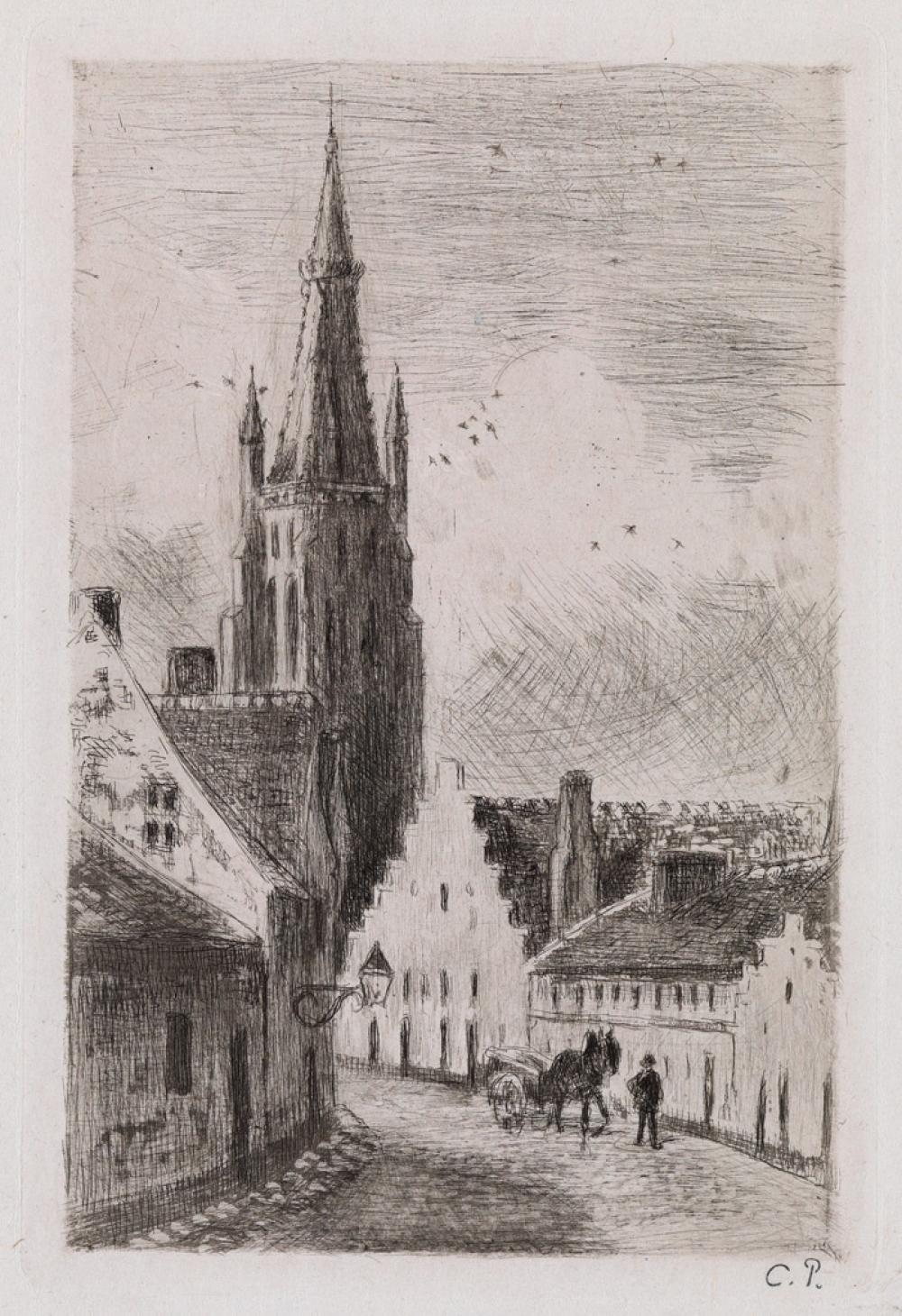 CAMILLE PISSARRO Notre Dame de Bruges.