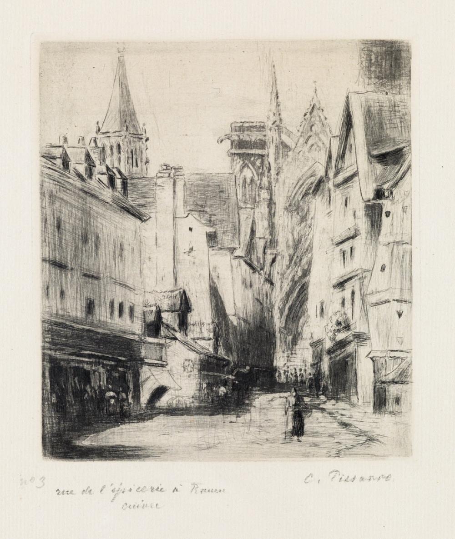 CAMILLE PISSARRO Rue de l''Épicerie, à Rouen.