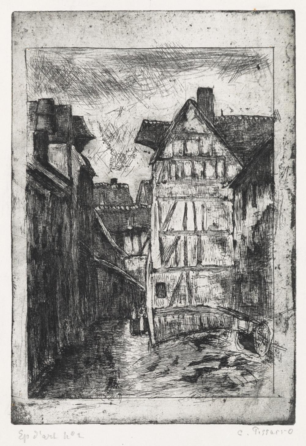 CAMILLE PISSARRO Rue Géricault, à Rouen.