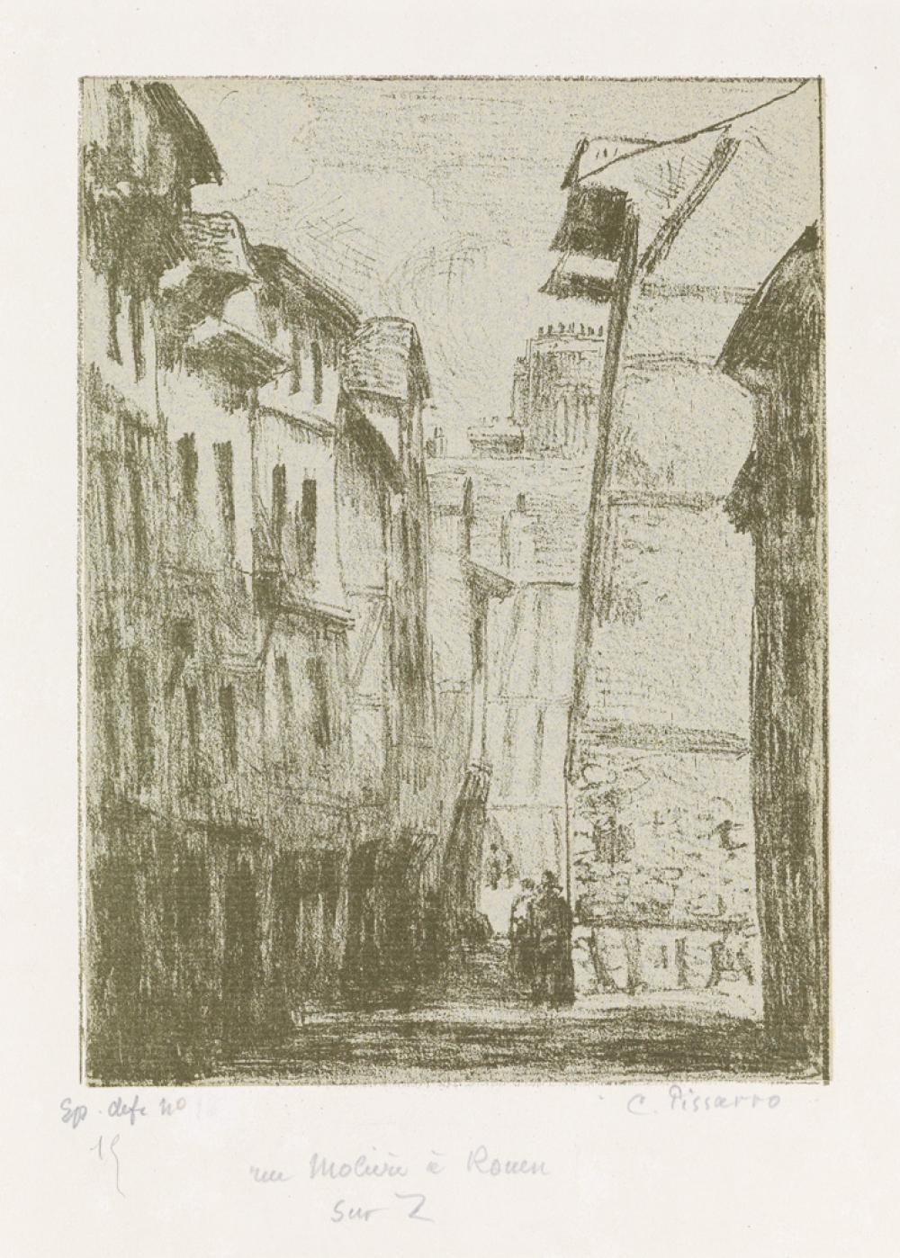 CAMILLE PISSARRO Rue Molière, à Rouen.