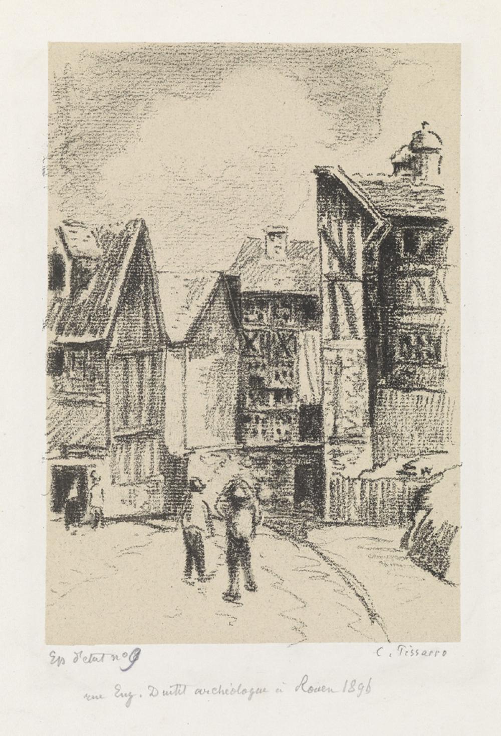CAMILLE PISSARRO Rue Eugène-Dutuit, à Rouen.