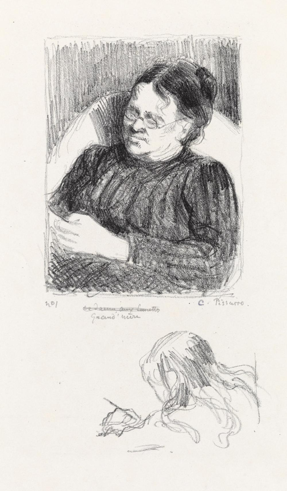CAMILLE PISSARRO Grand'Mère (la femme de l'artiste).