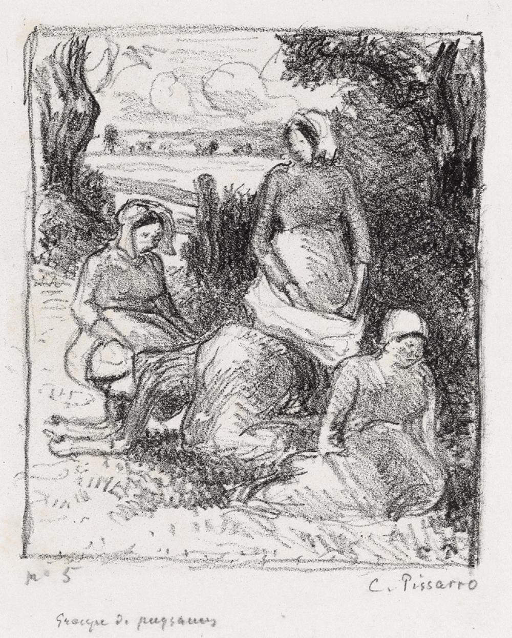 CAMILLE PISSARRO Groupe de paysannes.