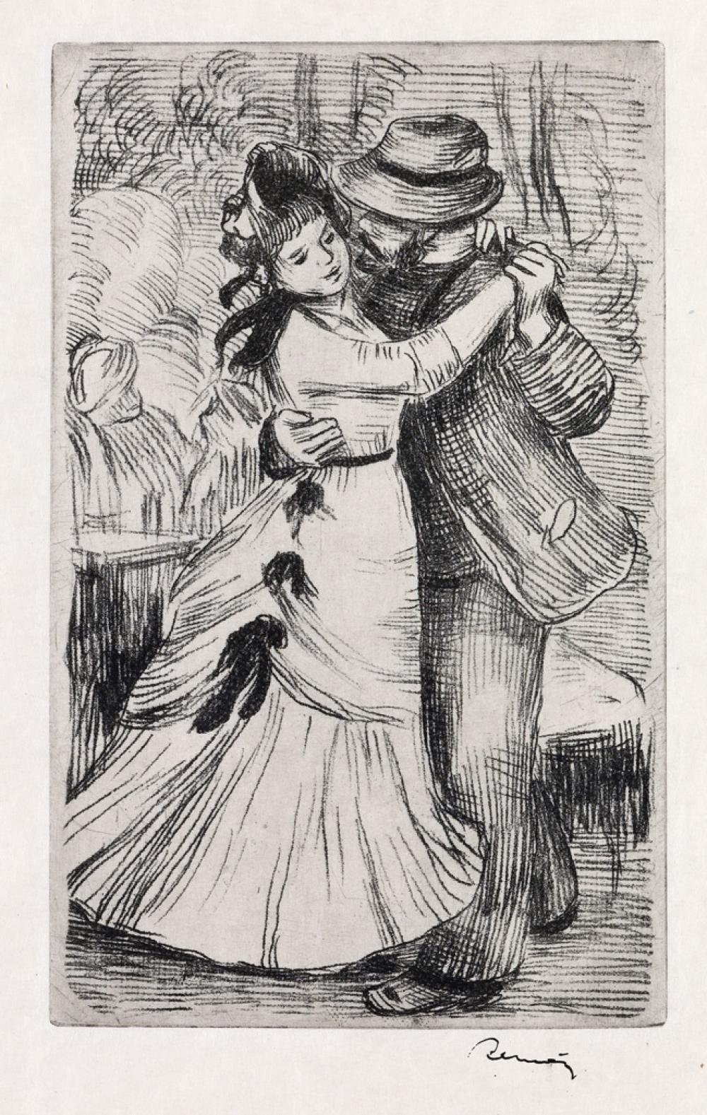 PIERRE-AUGUSTE RENOIR La Danse à la Campagne, 2e planche.