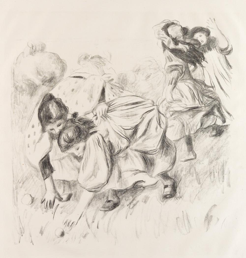 PIERRE-AUGUSTE RENOIR Enfants Jouant à la Balle.