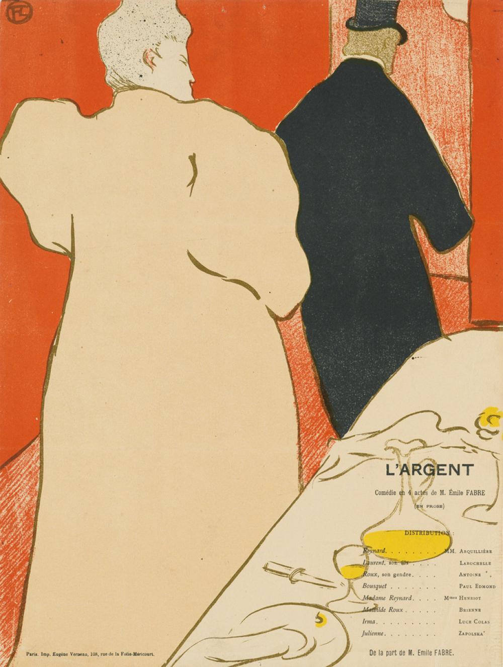 HENRI TOULOUSE-LAUTREC Une Monsieur et une Dame, Programme pour