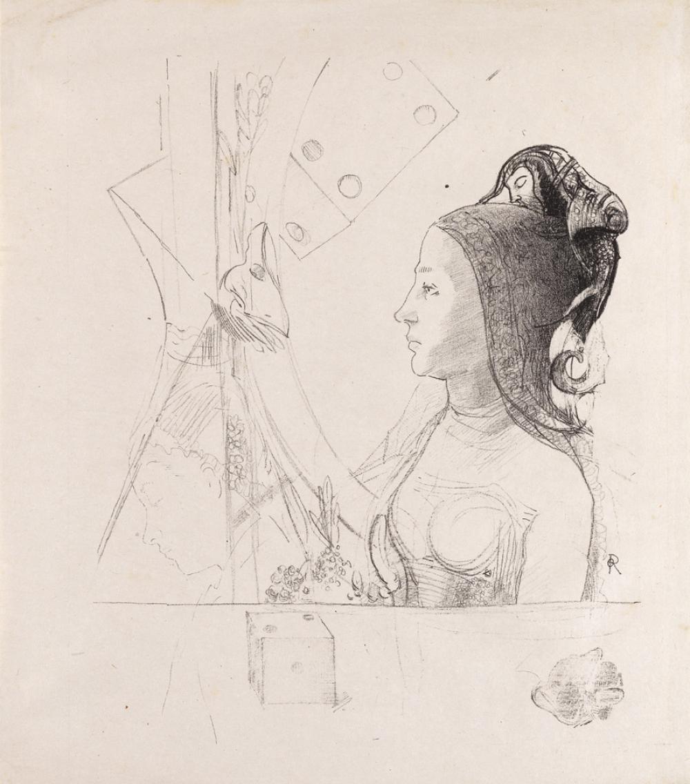 ODILON REDON Two lithographs.