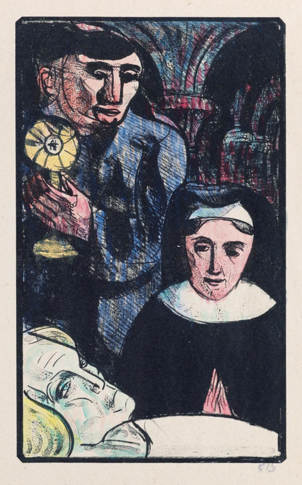 ÉMILE BERNARD Les Cantilènes: Ils vinrent amenant le Saint Sacrement.
