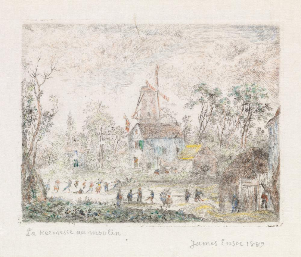 JAMES ENSOR La Kermesse au Moulin.