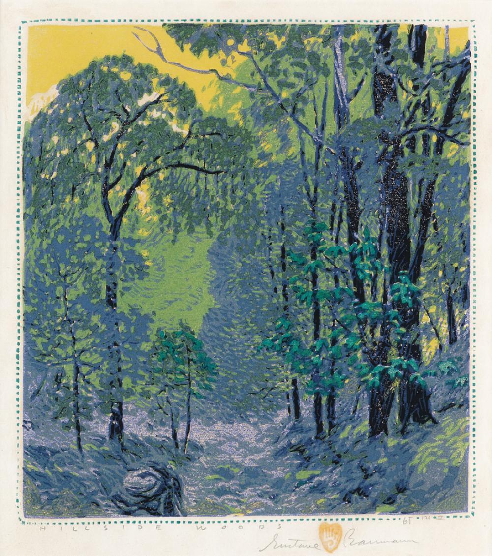 GUSTAVE BAUMANN Hillside Woods.