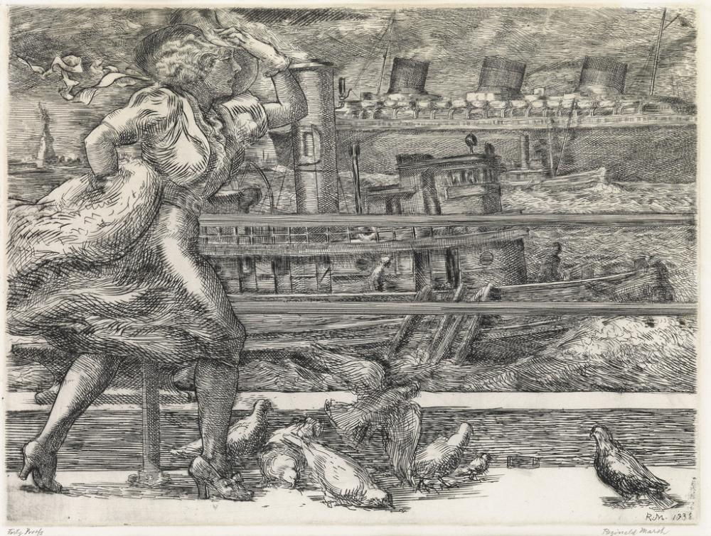 REGINALD MARSH Battery (Belles).