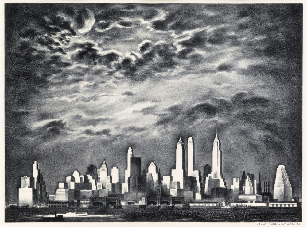 LOUIS LOZOWICK Storm Over Manhattan.