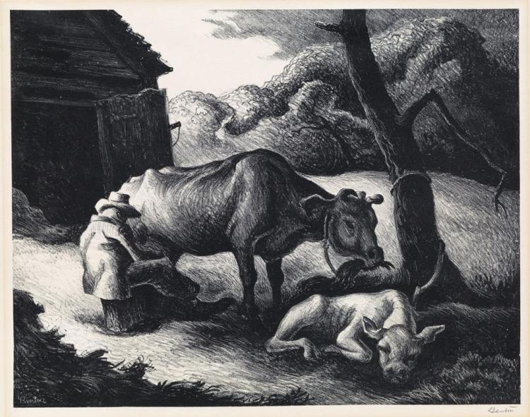 THOMAS HART BENTON White Calf.