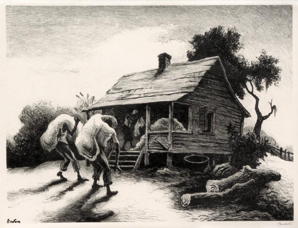 THOMAS HART BENTON Back From the Fields.