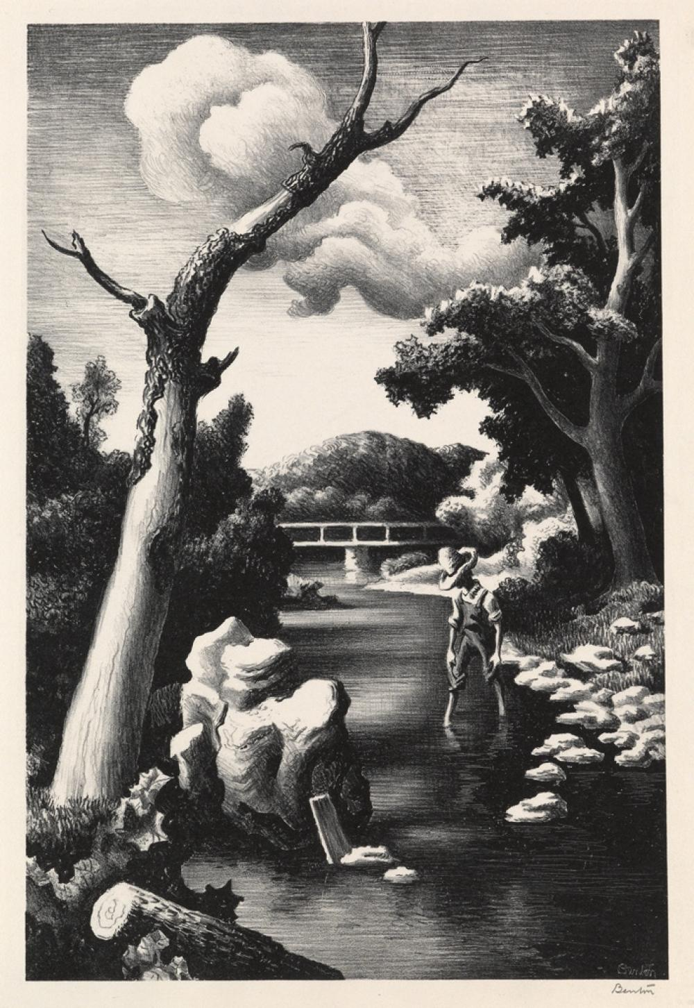 THOMAS HART BENTON Shallow Creek.