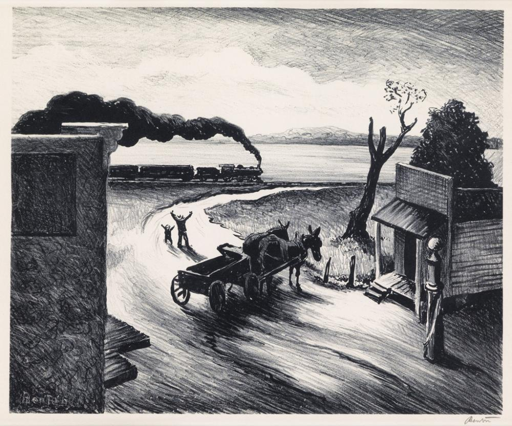 THOMAS HART BENTON Edge of Town.