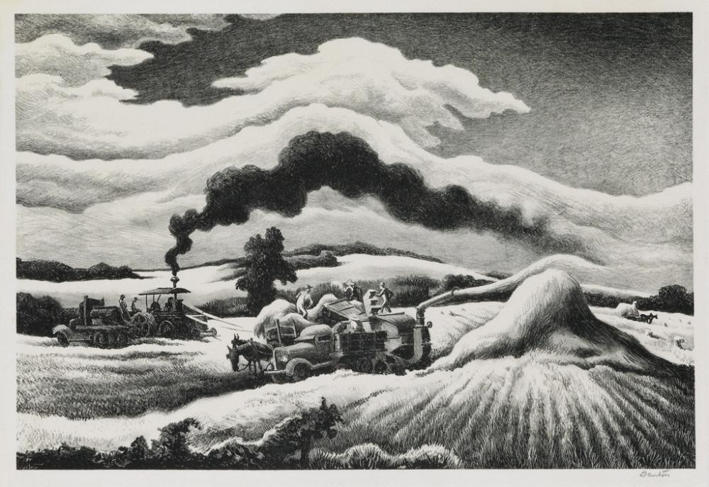 THOMAS HART BENTON Threshing.