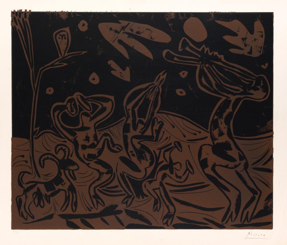 PABLO PICASSO Les Danseurs au Hibou.