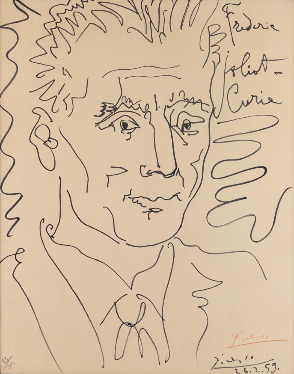 PABLO PICASSO (after) Frédéric Joliot-Curie