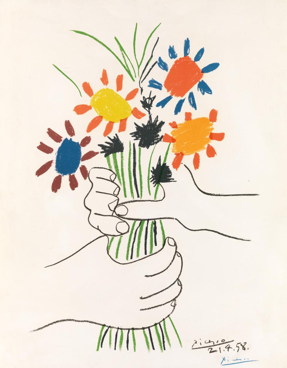 PABLO PICASSO (after) Bouquet de Fleurs