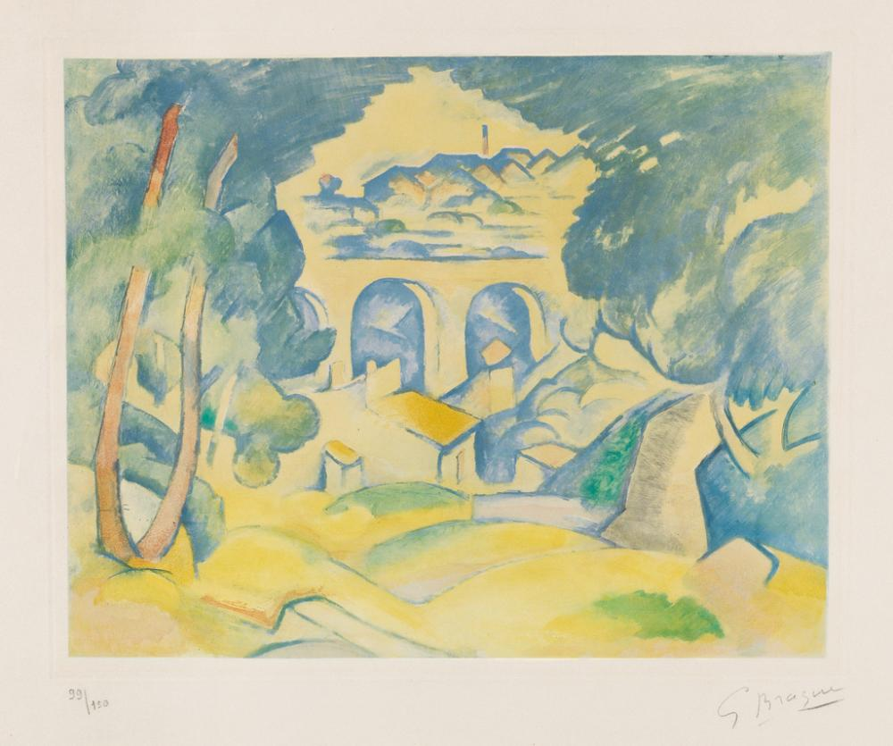 GEORGES BRAQUE (after) Le Viaduc de L'Estaque