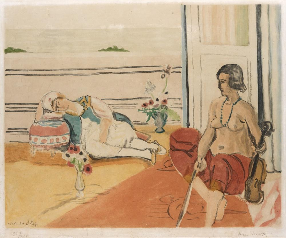 HENRI MATISSE (after) Odalisque sur la Terrasse